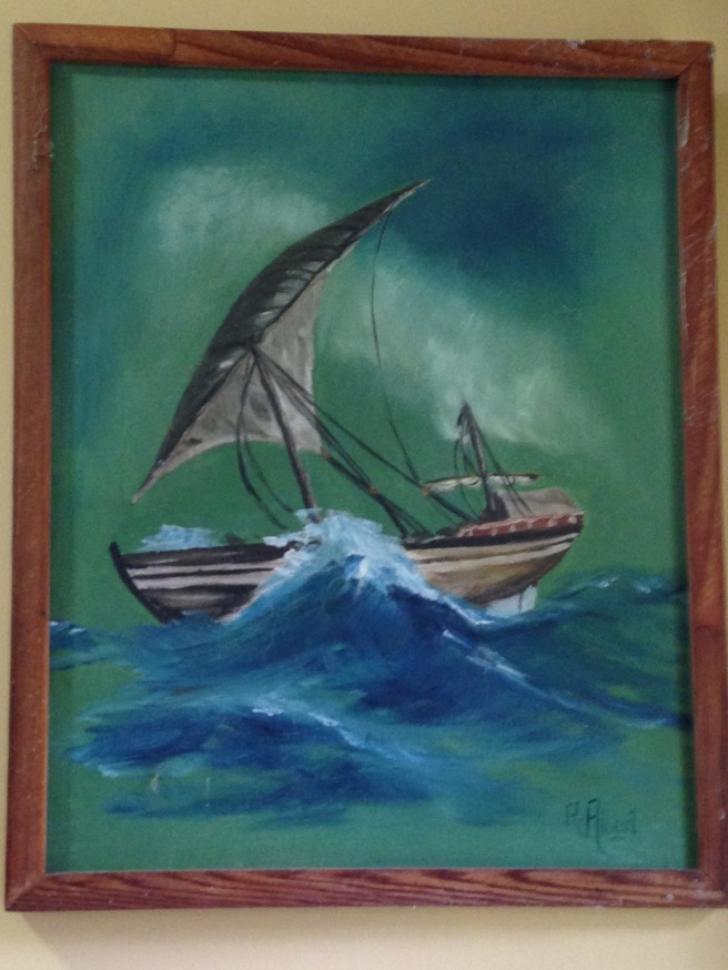First Boat Painting